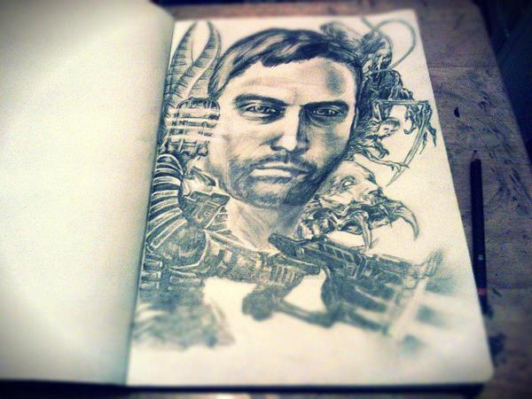 Dead Space Isaac Clarke sketch by ZeroFoxFaceless