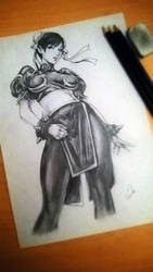 Chun Li Drawing by ZeroFoxFaceless