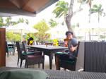 Me, Samantha and OatC Waifus at resort cafe