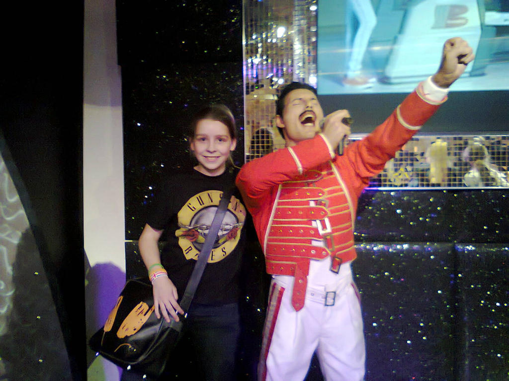 Me with Freddie Mercury's waxwork by Jedi-Solo