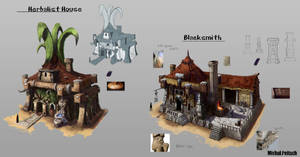 Herbalist and Blacksmith houses