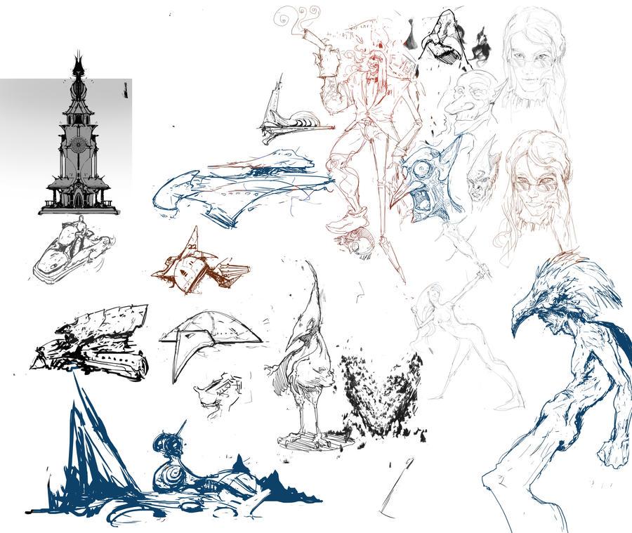 Sketch session 1 by Narog-art