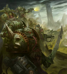 Plague Marines by Narog-art