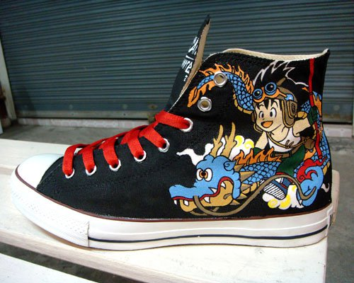 Dragonball Z , custom converse chuck by Annatarhouse