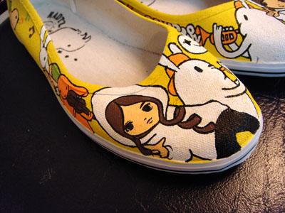 Hoody Girl , custom shoes by Annatar House by Annatarhouse
