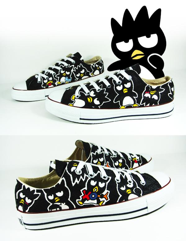 Bad Badtz Maru , Custom Converse Shoes by Annatarhouse