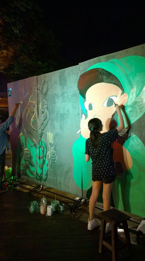 Street Art Night @Warmup Cafe ,Thailand. by Annatarhouse