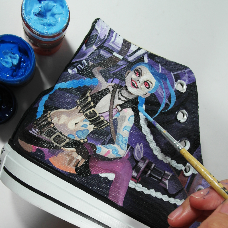 Fanart Custom Converse by Annatar , Jinx LOL by Annatarhouse