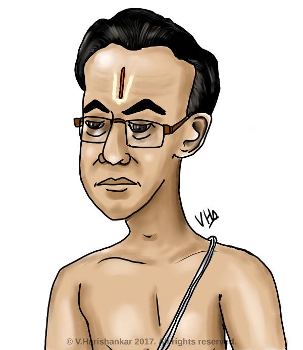 Caricature of Brahmin/iyengar uncle by vharishankar