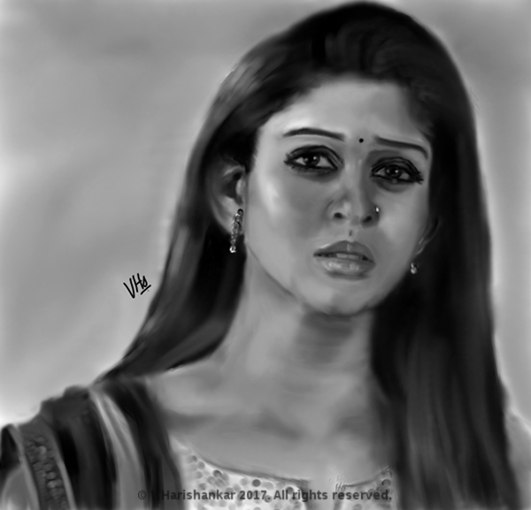 Portrait of Actress Nayanthara by vharishankar