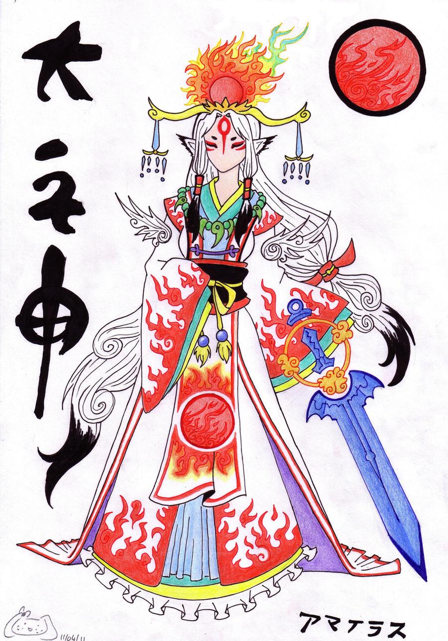 Amaterasu Okami, human form by GlwadysChan on DeviantArt