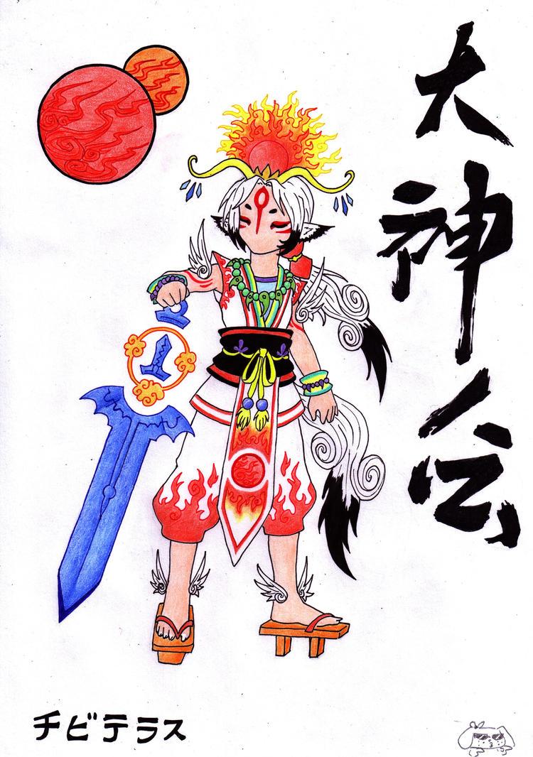Chibiterasu Okami, human form by GlwadysChan on DeviantArt