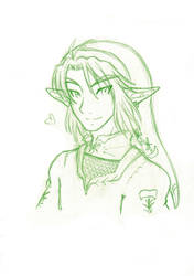 sketch : Link by GlwadysChan