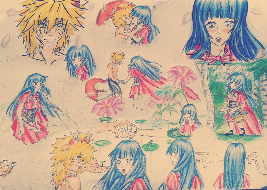 NaruHina: Kataomoi (Sketch) by HinaNaru2302