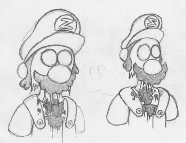 Zombie Mario and Luigi by ScumPudding on DeviantArt