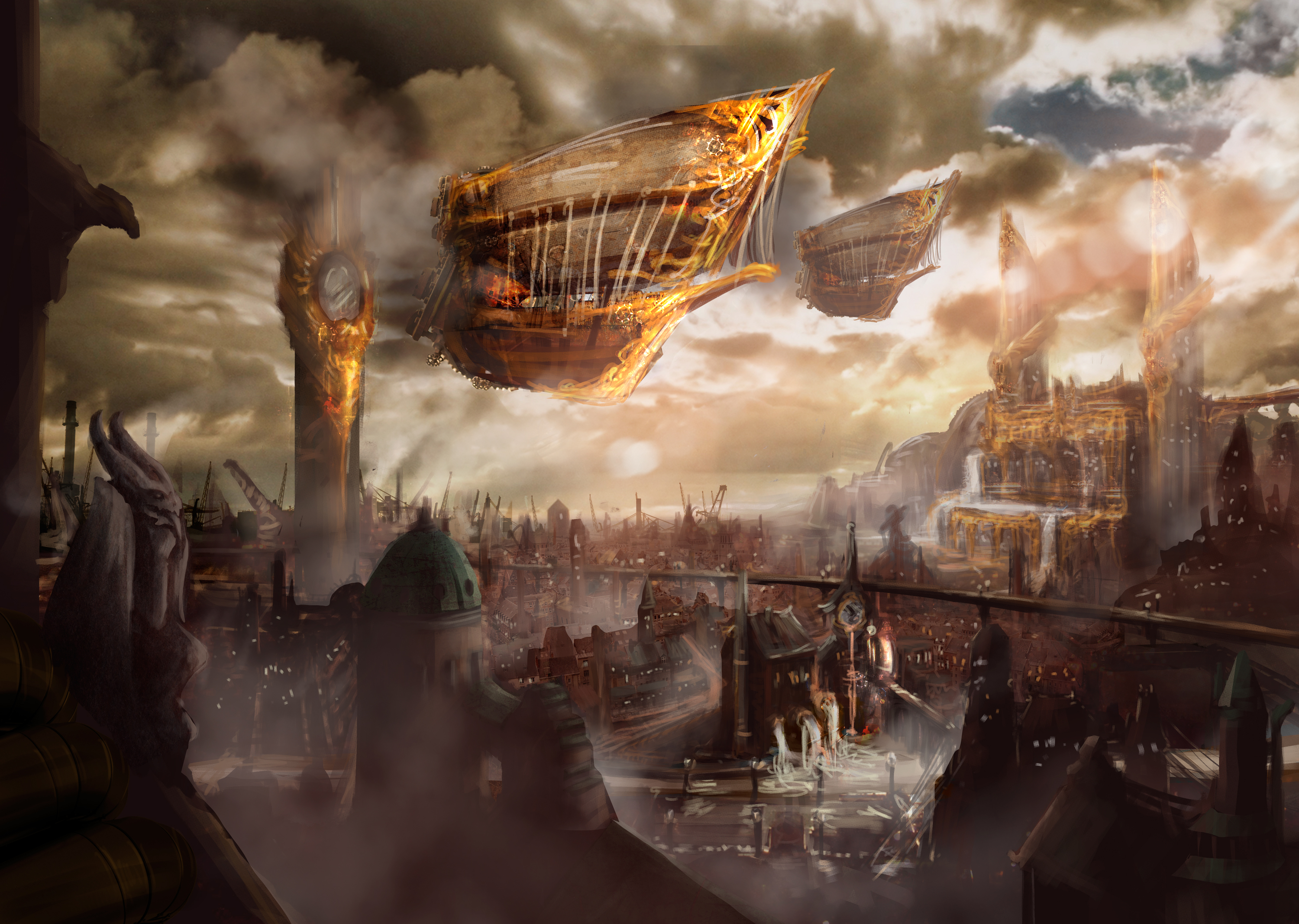 steampunk landscape by grimdreamart - photo #24