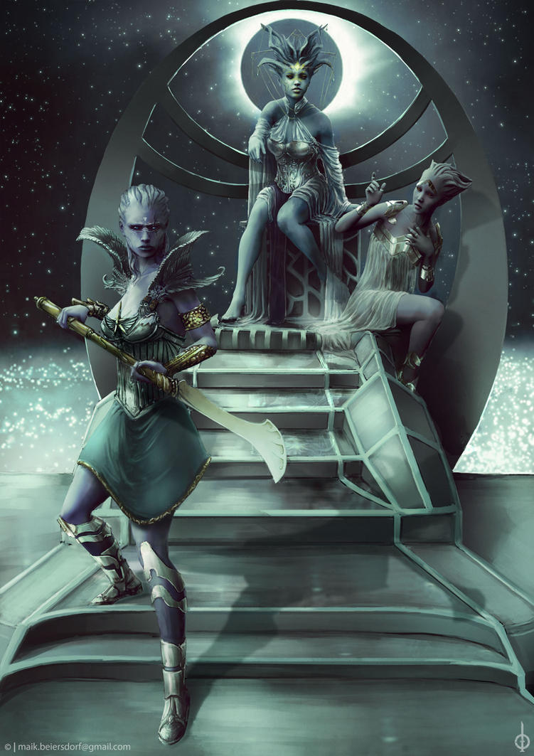 Anariell and Enyathi by MaikBeiersdorf