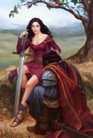 Morgana le Fay and sir Accolon by any-s-kill