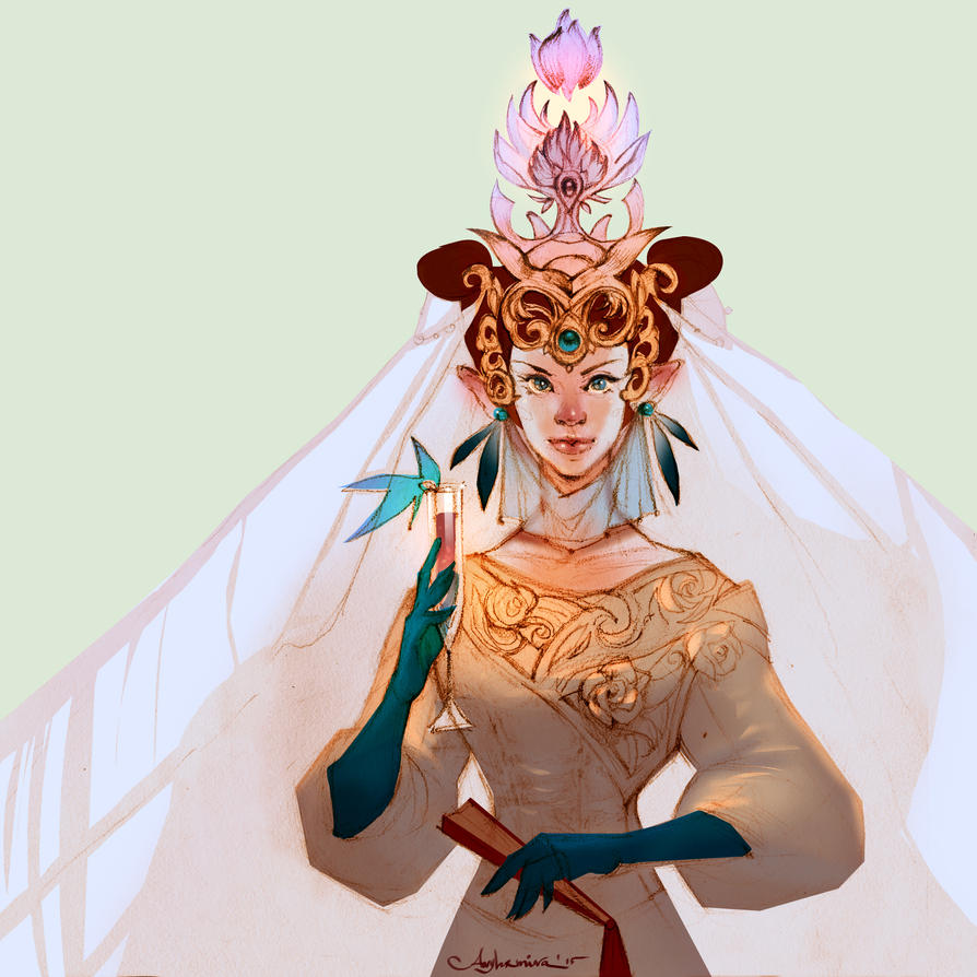Elf Princess Sketch by any-s-kill