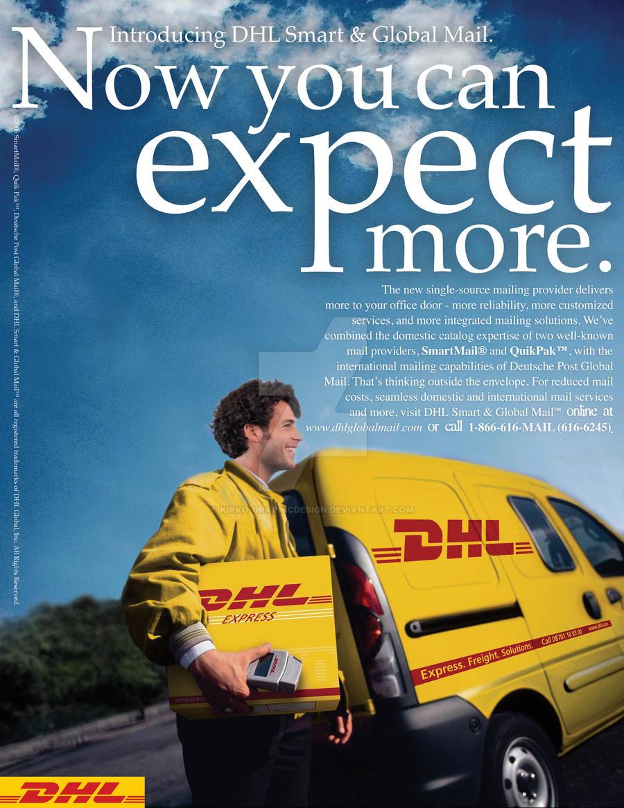 DHL Magazine Advertisement by KirkO-GraphicDesign on DeviantArt