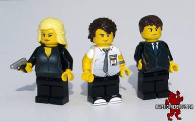 Chuck S1 LEGO - Chuck, Sarah, and Casey