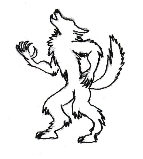 inktober__day_20___howling_werewolf_silh