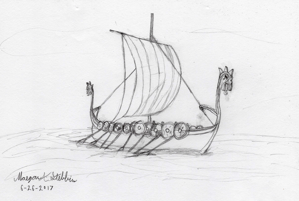 sketch___viking_longship_by_maverick_wer