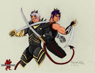 Demon Twins - Lye and Kye (colored) by Maverick-Werewolf