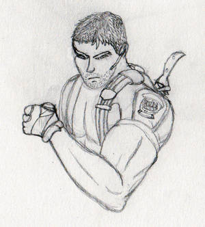Chris Redfield card doodle