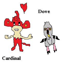 Cardinal and Dove (for Marriland's Black Wedlocke) by Jasperumbre