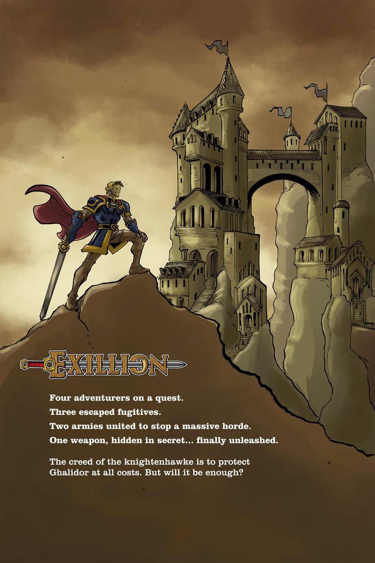 Exillion #1 Back-cover by shushubag
