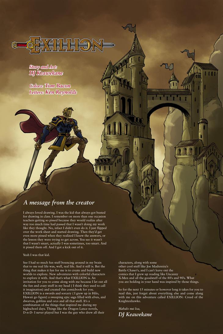 Exillion #1 Inside-cover by shushubag