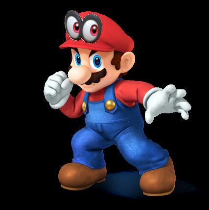 SSB4 Mario Render With Super Mario Odyssey Cap By