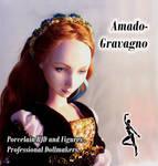Sansa Stark porcelain bjd doll by fernandoartesano