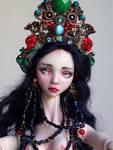 Mermaid Queen porcelain bjd doll face by fernandoartesano