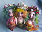 Little Mermaid siren tiny sisters bjd porcelain by fernandoartesano