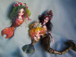 Bjd Mermaid siren porcelain bjd doll family by fernandoartesano