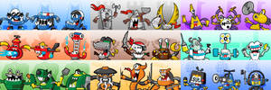 Mixels Series 7-9 Icons/Portraits (F2U On Sta.sh) by maklein