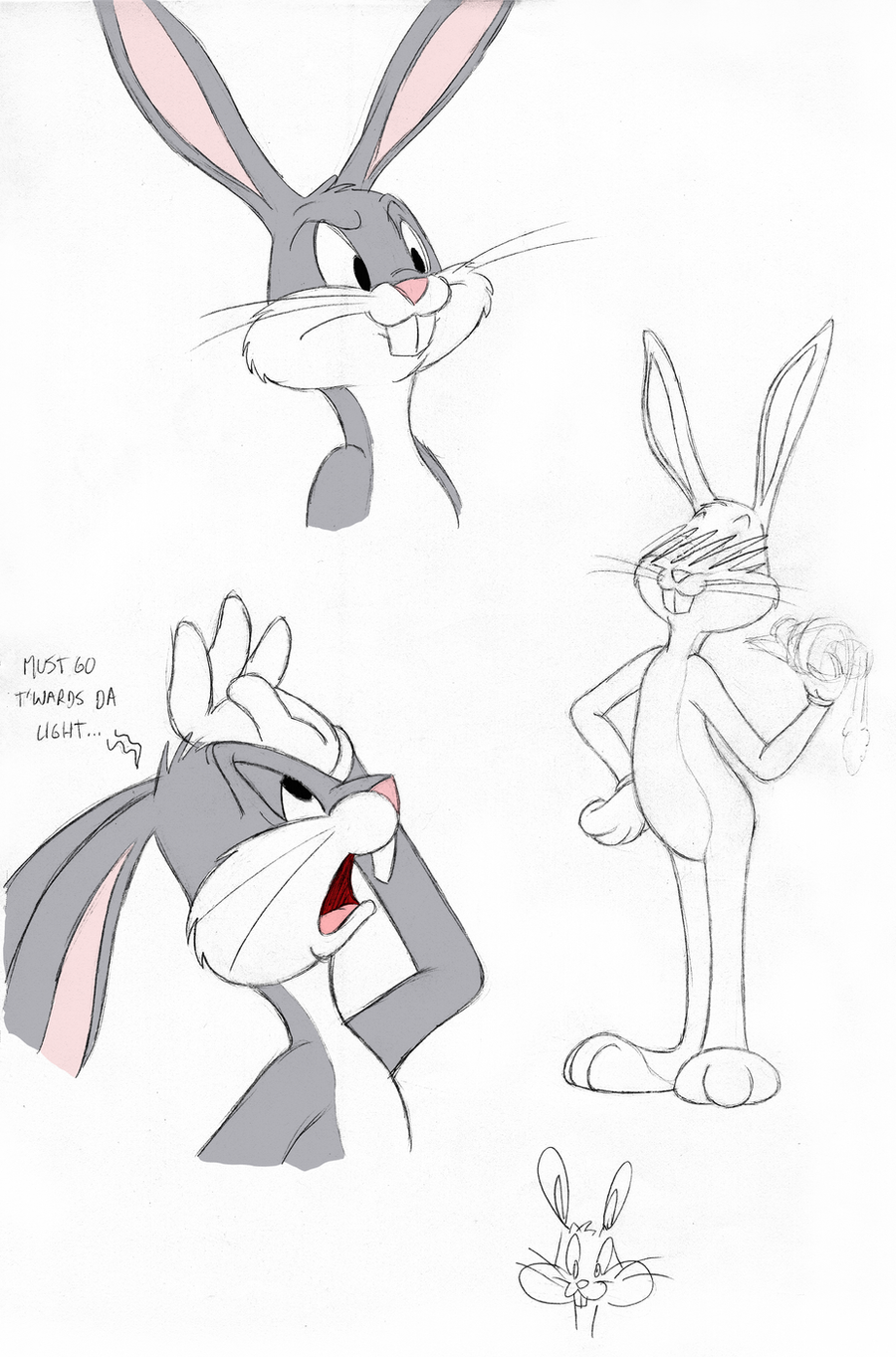 bugs bunny sketches by tymime on deviantart