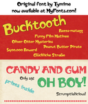 Bucktooth - original font by tymime