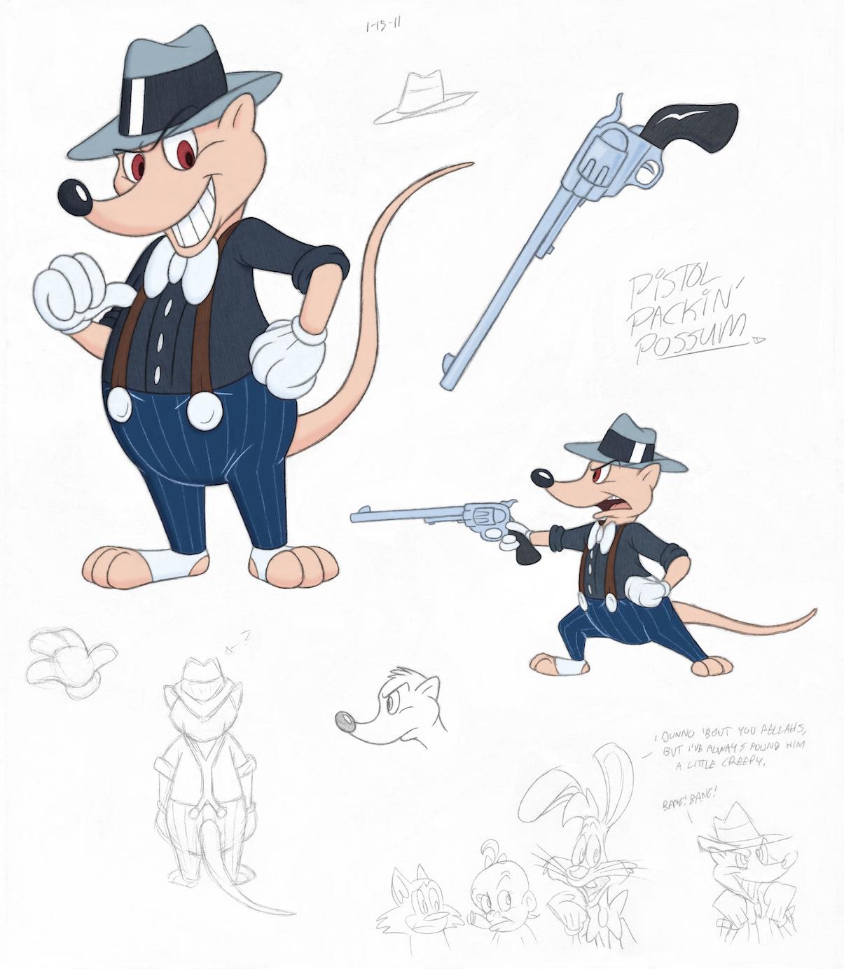 Pistol Packin' Possum by tymime
