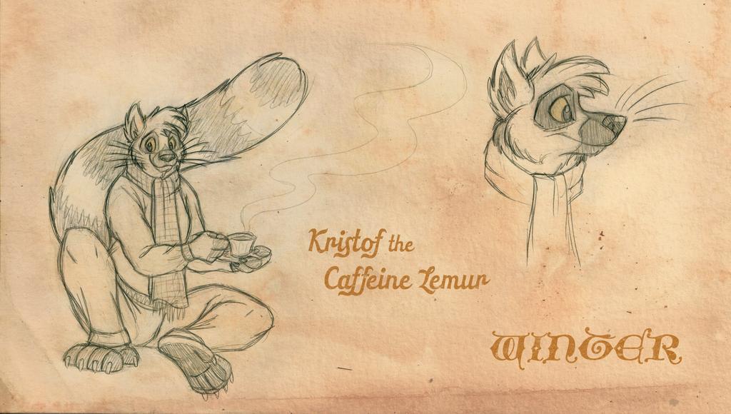 Kristof the Caffeine Lemur: Winter by tymime