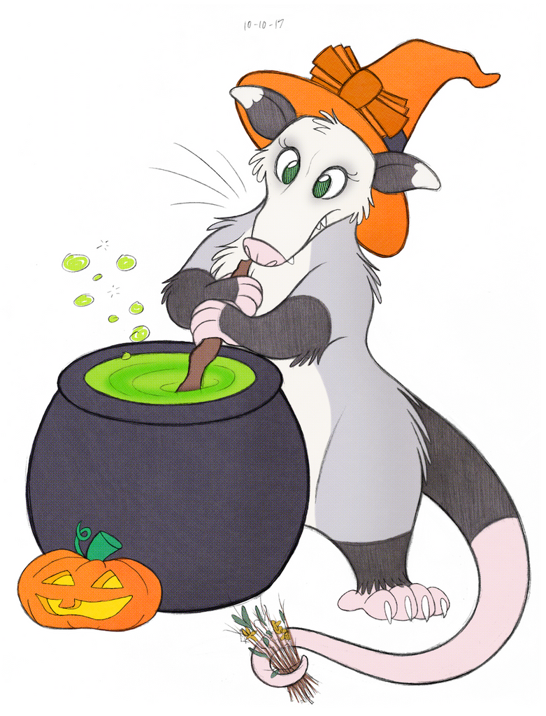 Halloween Opossum by tymime