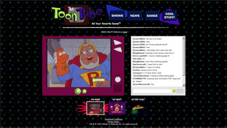 The Toon Tube (website mock-up) by tymime