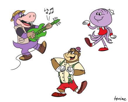 Modernized Hanna-Barbera gang (commission)