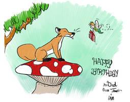 Fox gets some birthday cake
