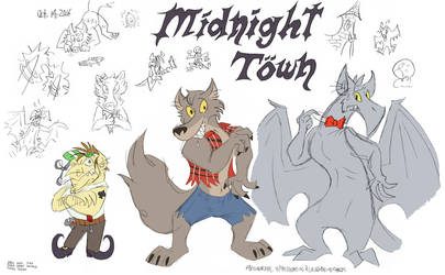 Midnight Town (concept drawings 1)