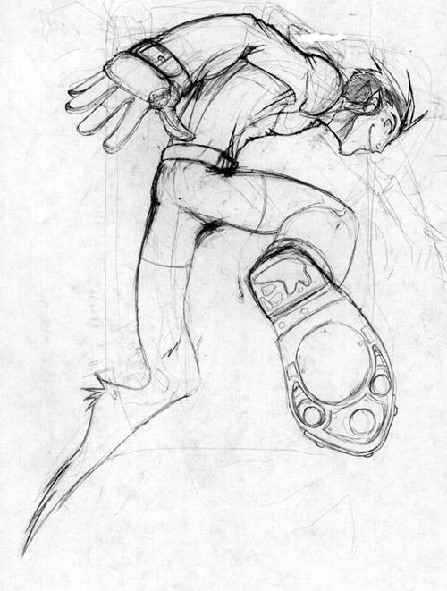 Jumping Beast Boy by Erikonil