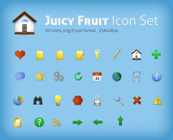 juicy fruit icon set png + psd by LeMex