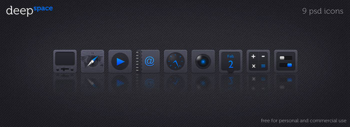 Deep Space 9 icons psd